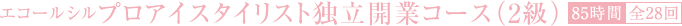 プロアイスタイリスト独立開業コース(2級)